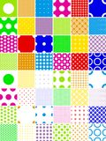 Color polka dot patterns Stock Photo