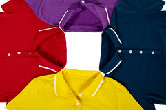 Color polo shirt Stock Images