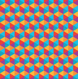 Color polygon pattern Stock Images