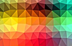 Color polygonal background Stock Photography