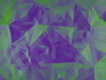 Color polygonal triangle 3d illustration. Color polygonal illustration, green and violet triangles facet vector illustration