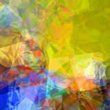 Color polygons Royalty Free Stock Photography