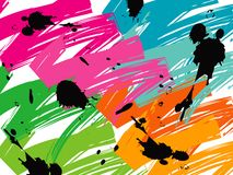 Color pop brush strokes royalty free illustration