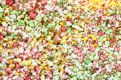 Color popcorn background Stock Photography