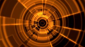 color porta de la naranja del vórtice del 2.o túnel redondo de Tron ilustración del vector