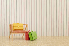 Color portfolios. In the room Royalty Free Stock Image