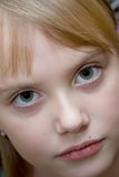 Color portrait of girl. Color portrait of young girl Royalty Free Stock Image
