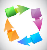 Color posts cycle illustration design graphic Stock Photos