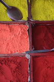 Color powder. For Til-aka at a market in Nepal Royalty Free Stock Photography