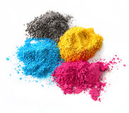 Color powder cmyk Stock Photos