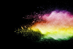 Color powder explosion Stock Photo
