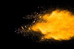 Color powder explosion. On black background. Mauve color cloud. color dust explode. Freeze motion paint Holi stock photo