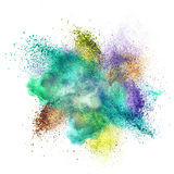 Color powder explosion isolated on white Stock Image