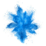 Color powder explosion isolated on white Royalty Free Stock Photo