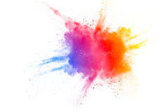 Color powder explosion stock illustration
