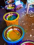 Color powder Stock Photos