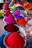 Color powder for Holi Festival stock photo