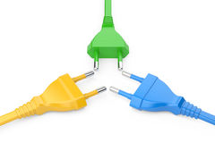 Color power plugs Stock Images