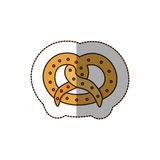 Color pretzel bread icon. Illustraction design image Stock Photography
