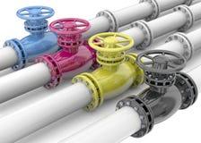 Color Print Concept - 3D Stock Image