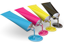 Color Print Concept - 3D Royalty Free Stock Image