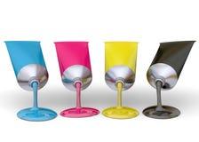 Color Print Concept - 3D Royalty Free Stock Photos