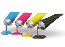 Color Print Concept - 3D Stock Photos