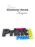 Color print Royalty Free Stock Images