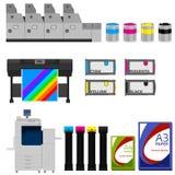 Color print. Equipment vector set Stock Photos