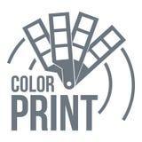 Color print logo, simple style Stock Photos