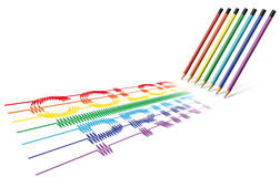 Color Print Pencil Royalty Free Stock Photography