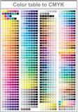 Color print test page vector illustration