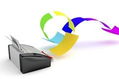Color printer Royalty Free Stock Photo