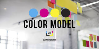 Color Printing Ink Color Model CMYK Concept Stock Images