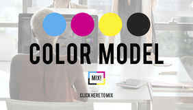 Color Printing Ink Color Model CMYK Concept Royalty Free Stock Images