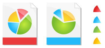 Color Progress Bar Chart Paper Royalty Free Stock Photography