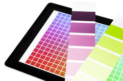 Color proof mobile device Royalty Free Stock Images