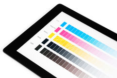 Color proof tablet pc Stock Photography
