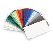 Color provkartan royaltyfria bilder