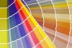 Color provkartan Arkivbilder