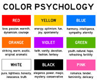 Color psychology Royalty Free Stock Photo