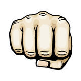Color punching hand with clenched fist vector illustration Royalty Free Stock Photo