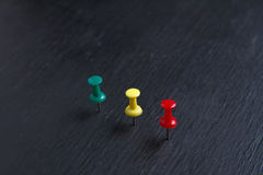 Color pins Stock Image