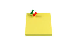 Color pushpin notes. White background color pushpin message notes Stock Image