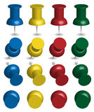 Color Pushpins Stock Photo