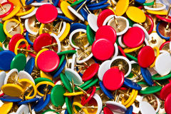 Color pushpins Stock Photography