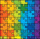 Color puzzle. Background vector illustration Stock Photography