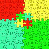 Color puzzle. 3d render illustration color puzzle Royalty Free Stock Photography