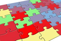 Color Puzzle Stock Photos