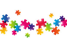 Color puzzle background Stock Photos